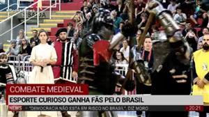 Esporte pouco conhecido, combate medieval ganha fãs pelo Brasil