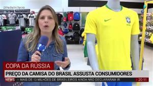 Preço da camisa oficial do Brasil assusta consumidores