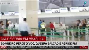 Sargento tem 'ataque de fúria' em aeroporto de Brasília