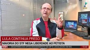 """""""Segunda Turma nega liberdade a Lula por motivos técnicos"""", diz Reinaldo"""