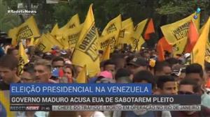 Governo Maduro acusa EUA de sabotarem pleito