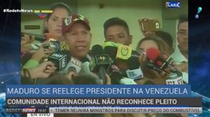 Comunidade internacional condena reeleição de Maduro
