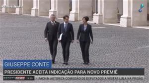Presidente da Itália aprova Giuseppe Conte como primeiro-ministro