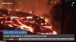 Lava continua a avançar pelo Havaí