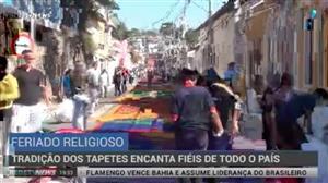 Tradição dos tapetes de Corpus Christi encanta fiéis pelo Brasil