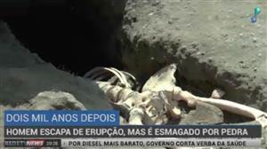 Arqueólogos encontram esqueleto de homem que fugia da lava do Vesúvio