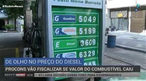 Procon fiscaliza se preço do diesel caiu em todo o País