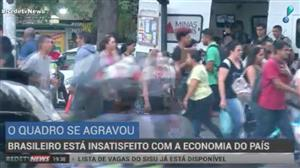 Brasileiro está insatisfeito com a economia, diz pesquisa