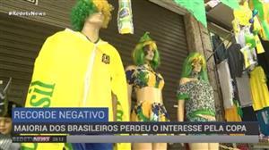 Comércio sente maior desinteresse dos brasileiros pela Copa do Mundo