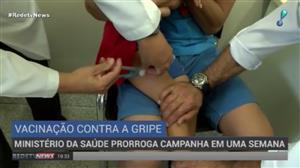 Ministério da Saúde prorroga campanha da vacinação contra a gripe