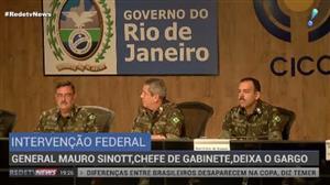General Mauro Sinott deixa gabinete de intervenção no Rio