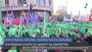 Câmara dos Deputados da Argentina aprova descriminalização do aborto