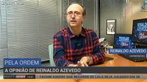 """""""Lula preso ou solto continua inelegível"""", diz Reinaldo Azevedo"""