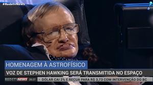 Mensagem de voz de  Stephen Hawking é enviada ao espaço