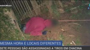 Sete pessoas são assassinadas a tiros em chacina
