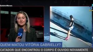 Catador que encontrou Vitória Gabrielly é ouvido novamente pela polícia