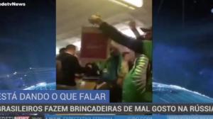 Brasileiros fazem brincadeira de mal gosto na Rússia