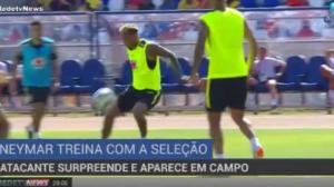 Neymar treina normalmente e tranquiliza comissão técnica da seleção