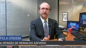 """Reinaldo Azevedo: """"Que a Justiça condene Lula seguindo as regras do jogo"""""""