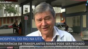 Hospital referência em transplantes renais pode ser fechado no Rio