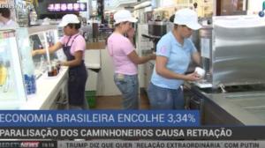 Paralisação dos caminhoneiros causa retração de 3,34% da economia
