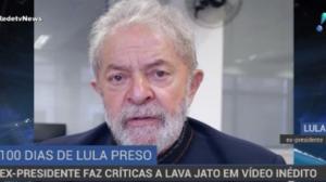 Lula completa cem dias preso e faz críticas à Lava Jato em vídeo inédito