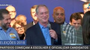 Ciro Gomes é oficializado pelo PDT como candidato à Presidência