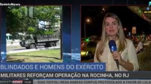 Militares reforçam operação de combate ao tráfico na comunidade da Rocinha