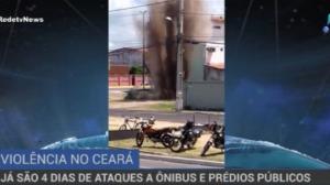 14 ônibus são incendiados em quatro dias de ataque no Ceará