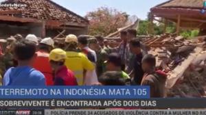 Sobrevivente é encontrada dois dias depois de terremoto na Indonésia