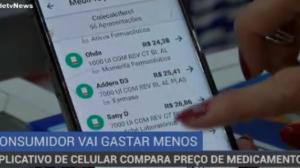 Aplicativo de celular compara preço de medicamentos