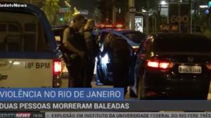 Duas pessoas morrem baleadas no Rio de Janeiro