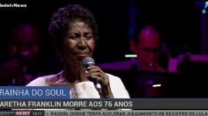 Rainha do soul, Aretha Franklin morre aos 76 anos