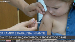 Dia D da vacinação de sarampo e paralisia infantil acontece em todo o País