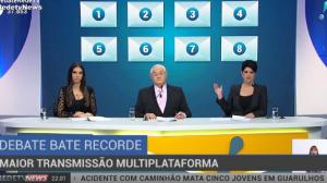 RedeTV! bate recorde em debate com maior transmissão multiplataforma