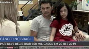 País deve registrar 600 mil casos de câncer em 2018 e 2019