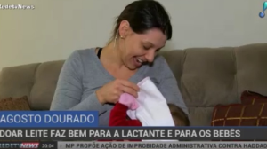 Doação de leite materno é benéfica para a lactante e para os bebês