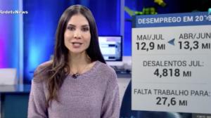 Desemprego recua para 12,3%, no mês de julho, segundo o IBGE