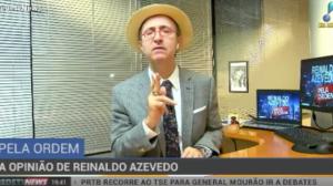 """Reinaldo Azevedo: """"A eleição brasileira está se dando sob regime de tutela"""""""