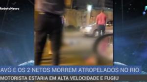 Avó e seus dois netos morrem atropelados em estrada no Rio