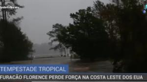 Furacão Florence perde força na costa leste dos EUA