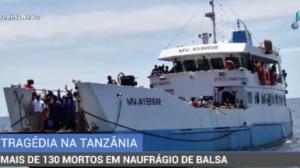 Mais de 130 mortos são encontrados em naufrágio de balsa na Tanzânia