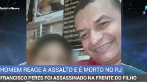Homem reage a assalto e é morto no Rio de Janeiro
