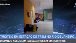 Tiroteio causa pânico em estação de trem do Rio de Janeiro