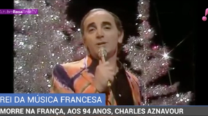 Morre na França, aos 94 anos, o cantor francês de 'She' Charles Aznavour