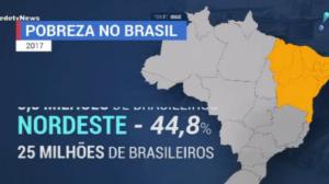 Desigualdade: 55 milhões de brasileiros vivem abaixo da linha da pobreza