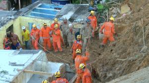 Chuvas matam sete pessoas em deslizamento na Grande Recife