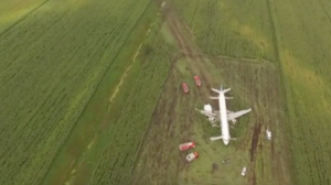 Pouso de emergência na Rússia deixa 74 feridos