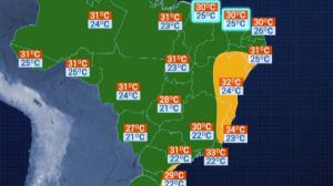 Previsão do Tempo: Salvador terá máxima de 32°C nesta quinta-feira (9)
