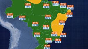 Previsão do Tempo: Rio de Janeiro terá máxima de 36° C na sexta-feira (10)